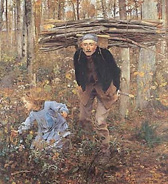 jules bastien lepage the wood gatherer